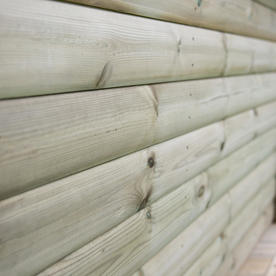 Cedar Tiled Roof Hexagonal 4m Gazebo