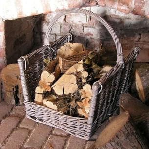 Wicker Log Basket/Carrier