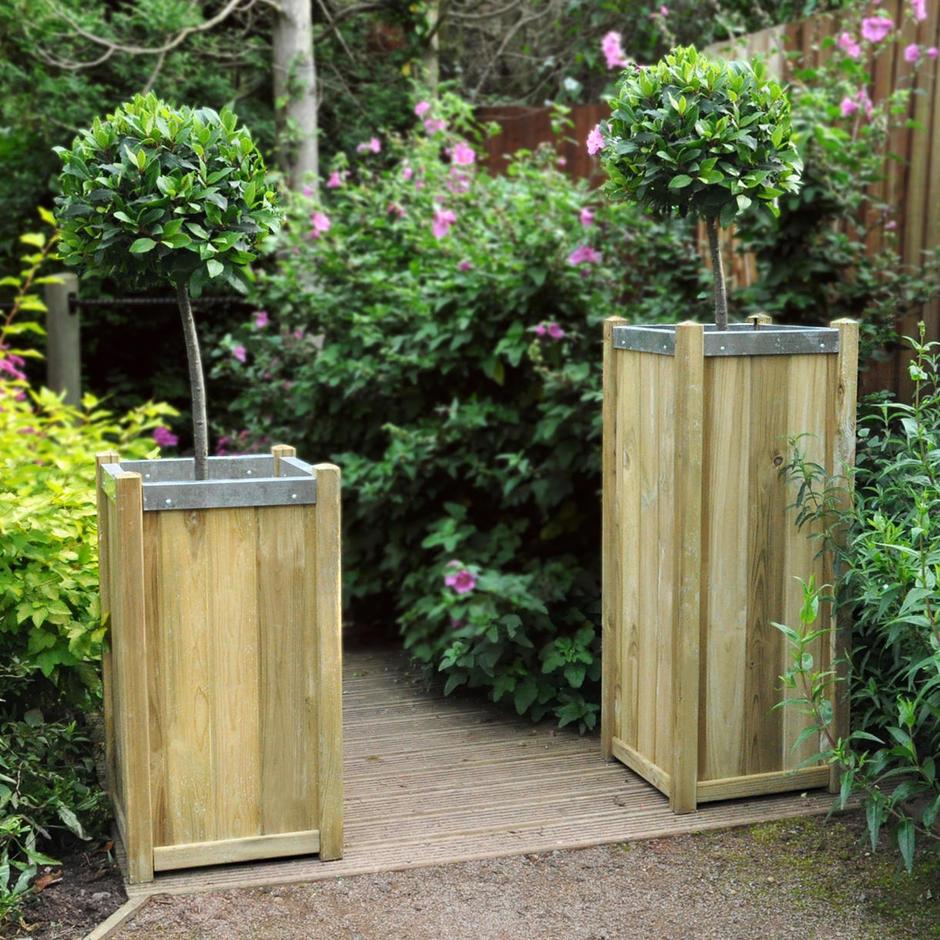 Slender Wooden Planters