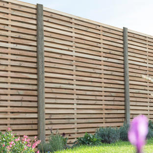 Double Slatted Fence Panels