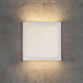 Maze Square Curved Lines Light