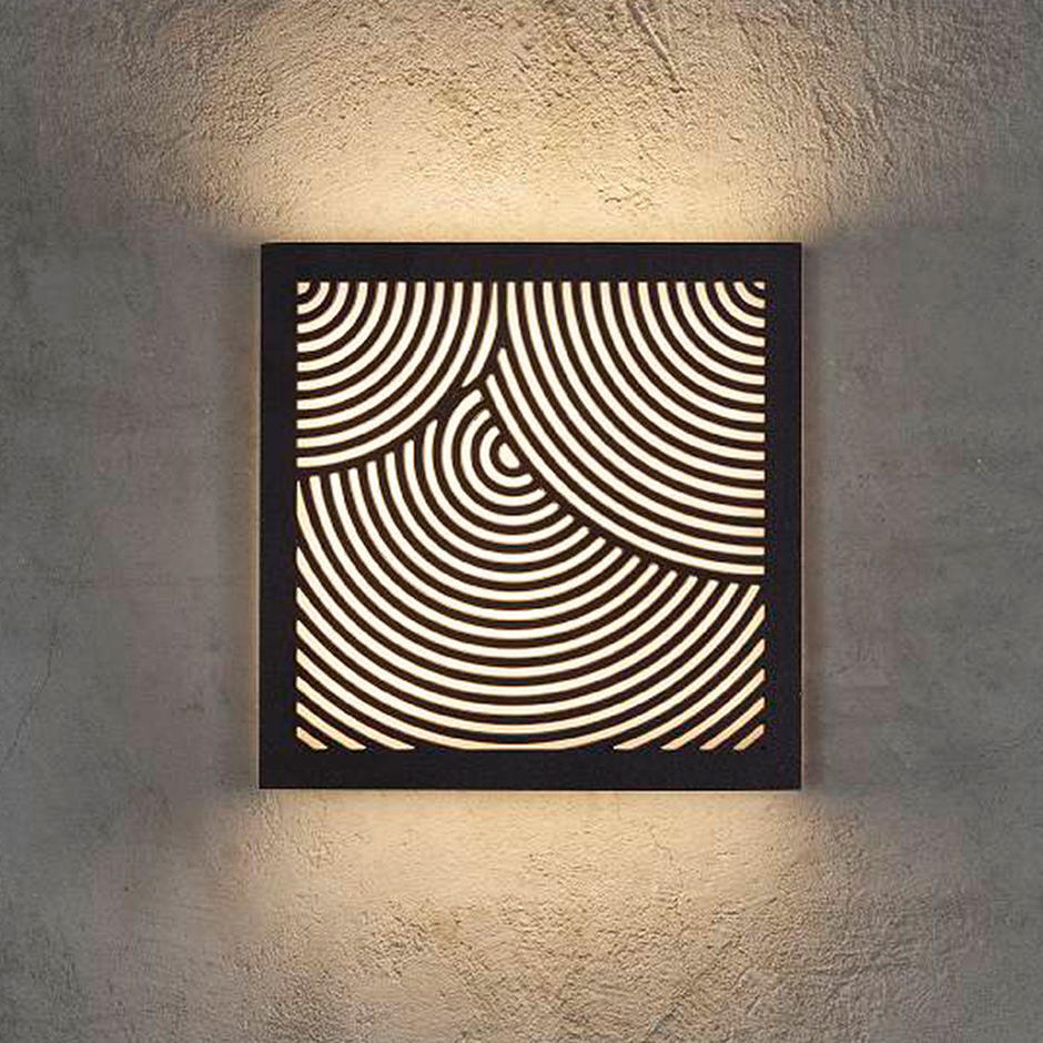 Maze Square Bended Lines Light