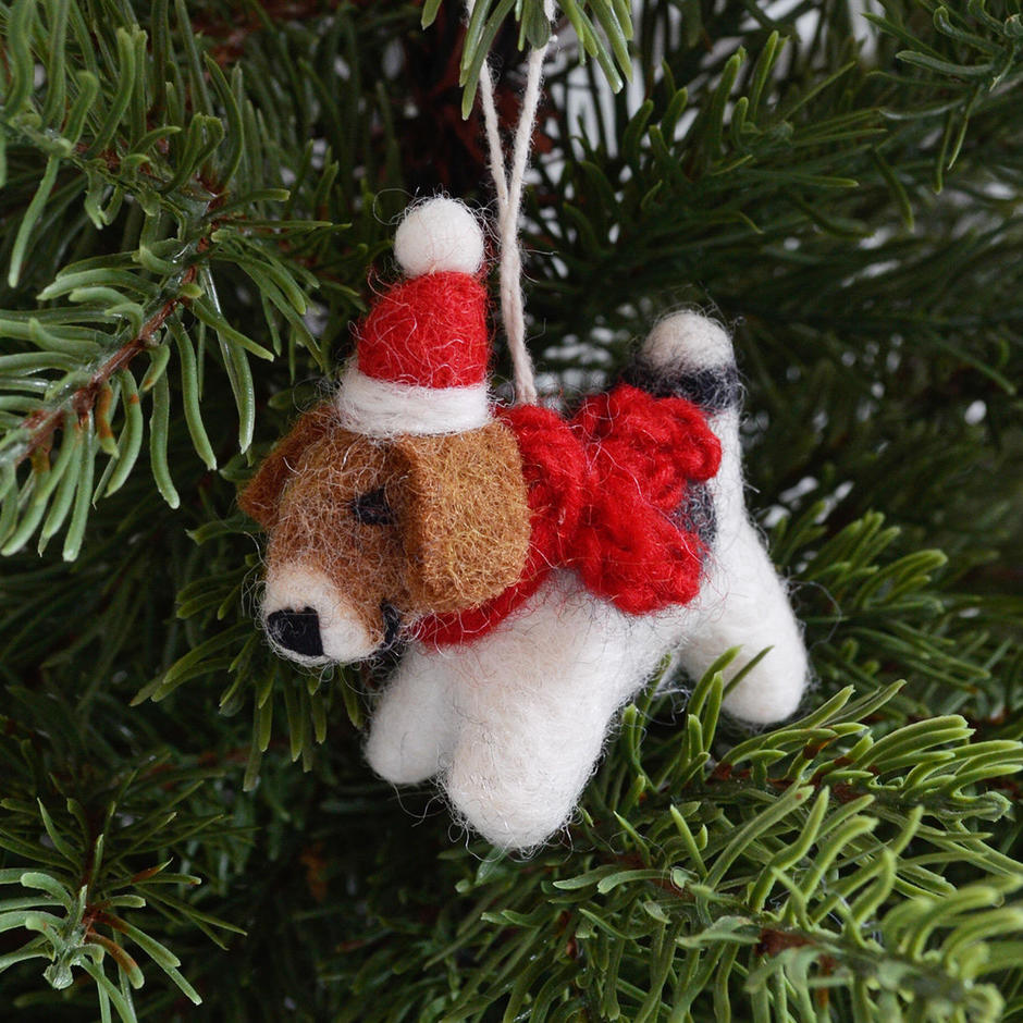 Mini Fox Terrier Christmas Decoration