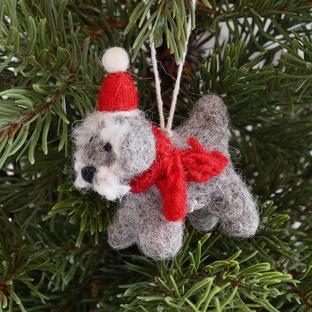 Mini Schanuzer Christmas Decoration