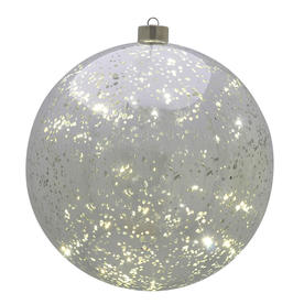 Silver Mercury Hanging LED Baubles