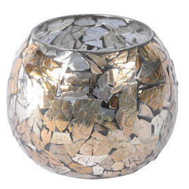 Metallic Mosaic Round Votive