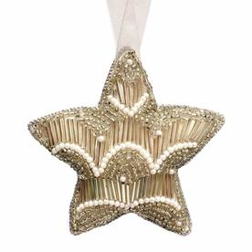 Beaded Vintage Gold Hanging Star