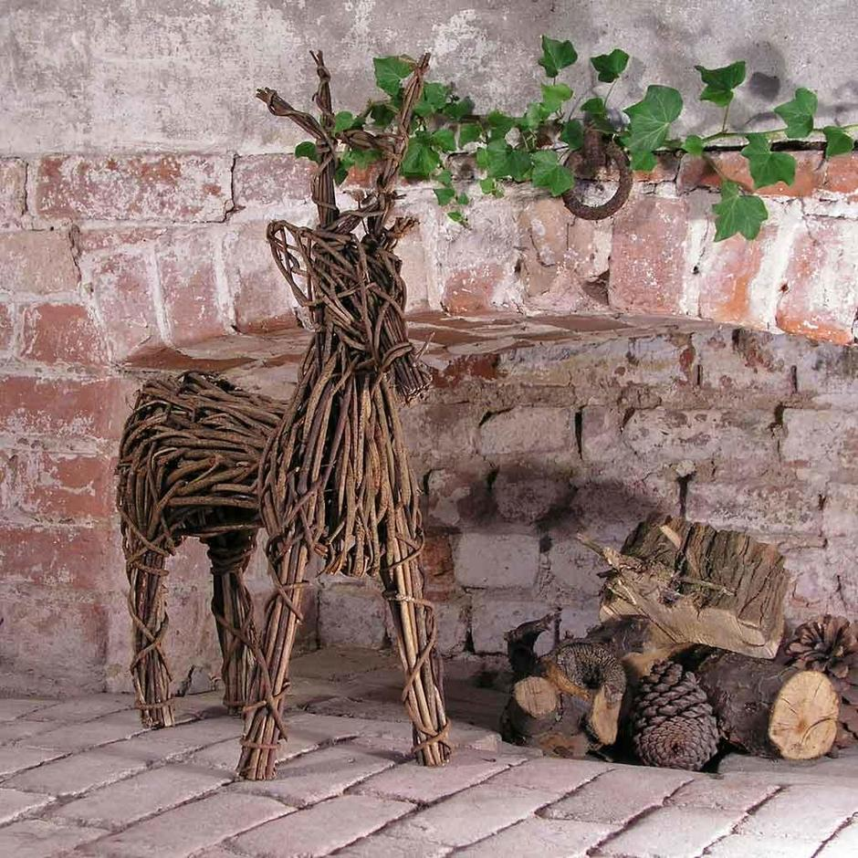 Wicker Reindeers