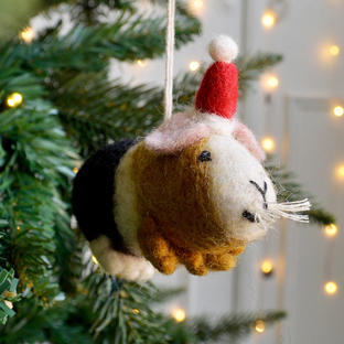 Guinea Pig Party Animal Christmas Decoration