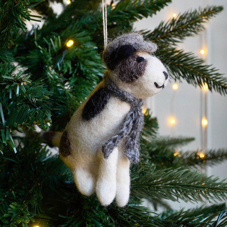 Sitting Jack Russell Christmas Decoration