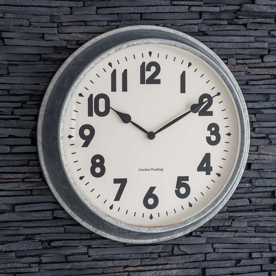 Galvanised Steel Outdoor Wall Clock