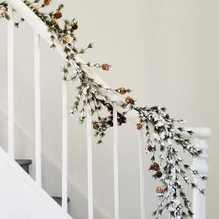 Snow Tipped Spruce Garland