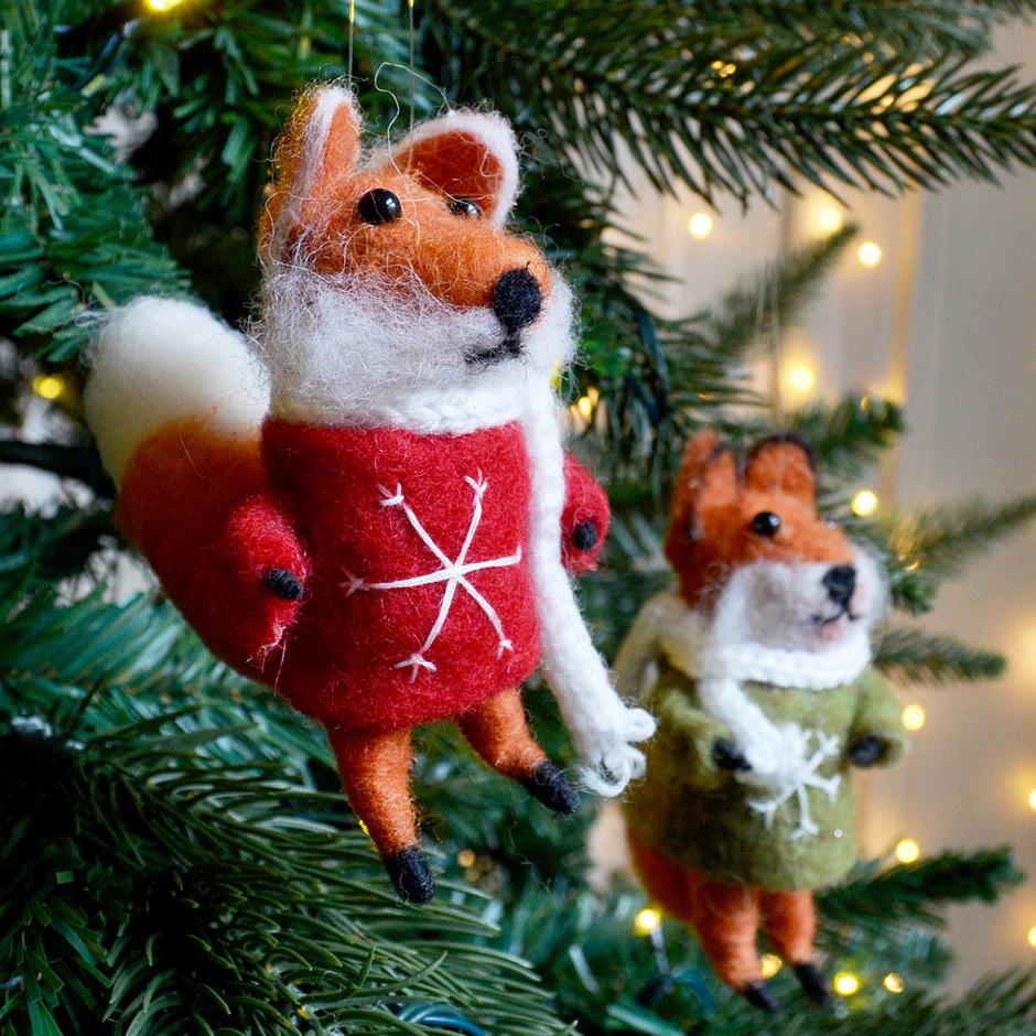 Felt Fox with Christmas Jumper