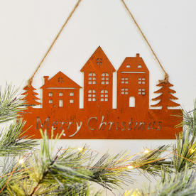 Hanging Metal Merry Christmas Decoration