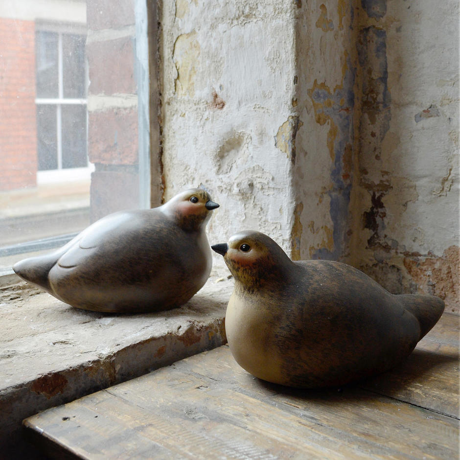 A Pair of Decorative Birds