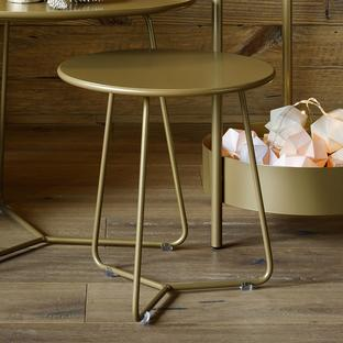 Fermob Limited Edition Gold Fever Cocotte Low Stool/ Side table