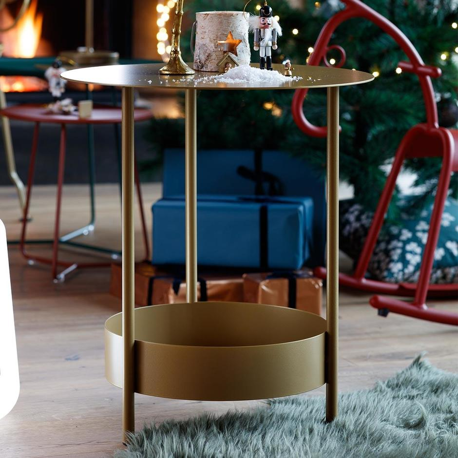 Fermob Limited Edition Gold Fever Salsa Pedestal Table