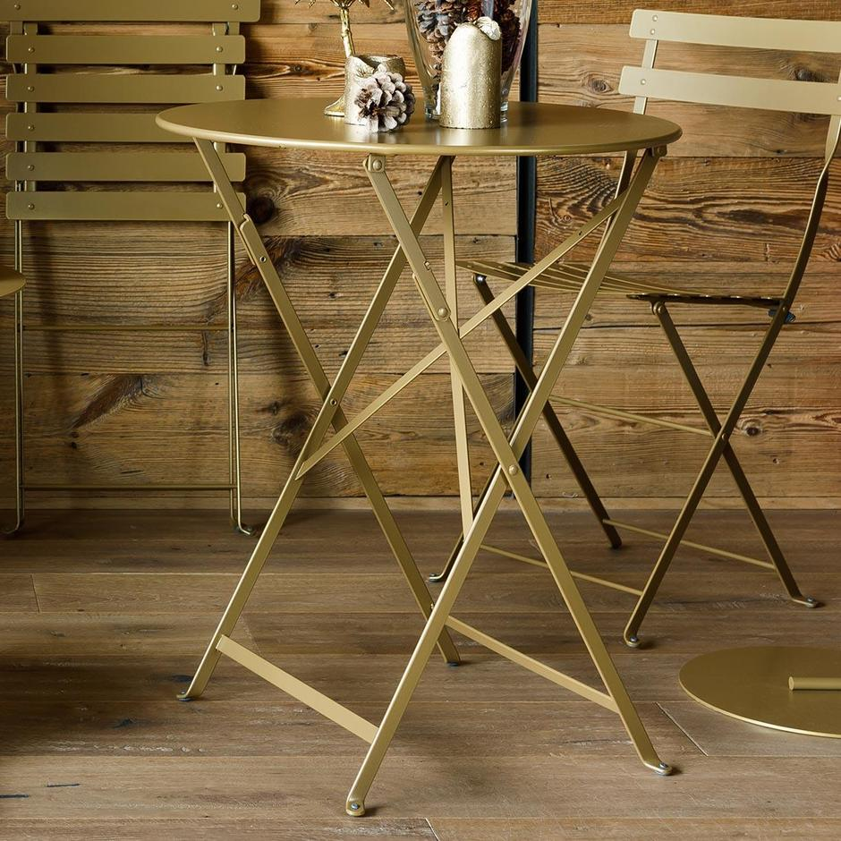 Fermob Limited Edition Bistro 60cm Round Table Gold Fever
