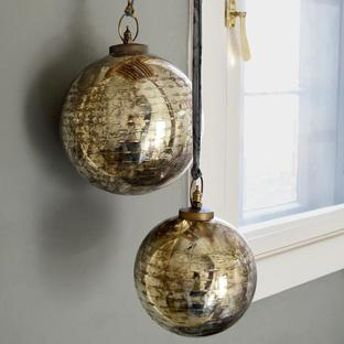 Giant Smoked Gold Glass Baubles