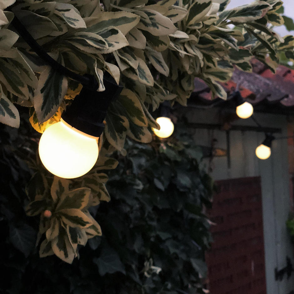 Outdoor Extendable Opaque LED Festoon Lights Sets