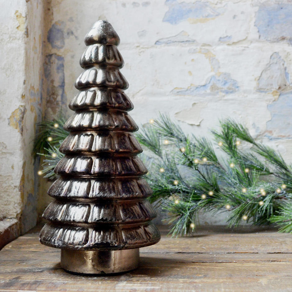 Burnished Glass Christmas Tree