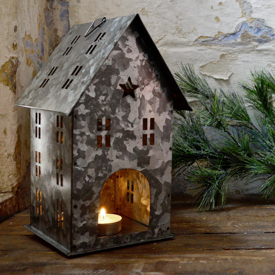 Zinc Nordic Tealight House
