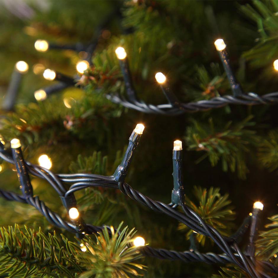 Buy Compact Warm White Led String Lights For Christmas Trees The Worm That Turned