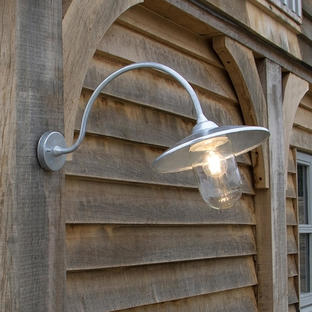 Outdoor St Ives Arched Swan Neck Wall Light