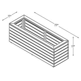 Linear Rectangular Wooden Planters