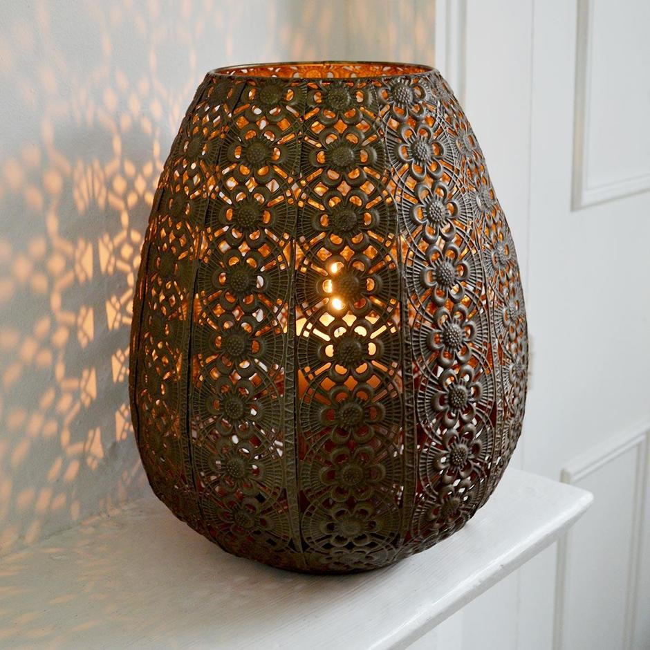 Filigree Hurricane Lantern