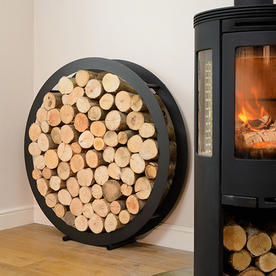 Floor Standing Circular Steel Log Holder