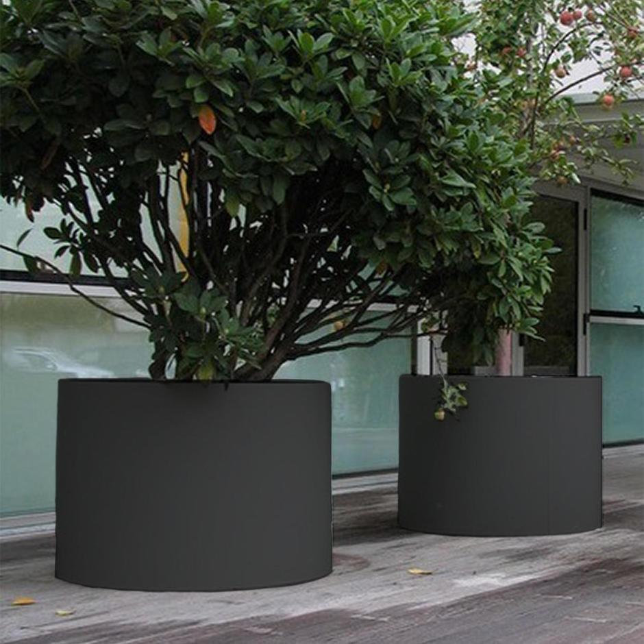 Cylindrical Aluminium Planter