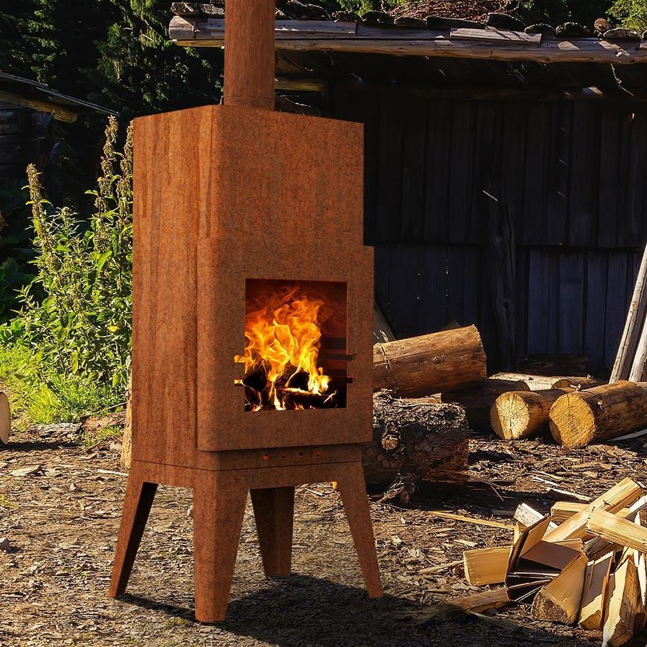 Outdoor Fireplaces in Corten Steel