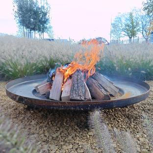 Shallow Fire Bowls in Corten Steel