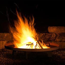 Shallow Fire Bowls in Corten Steel