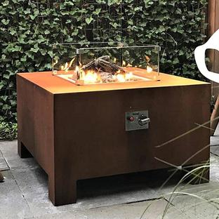 Gas Fired Corten Steel Fire Pits