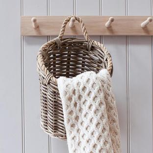 Hanging Rattan Utility Basket