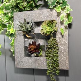Box Frame Wall Planter - Zinc