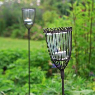 Rustic Lantern Stakes - set of 2