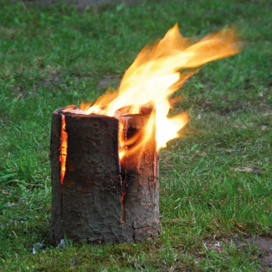 Small Log Fire on rope