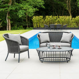 Cordial Curved Top Outdoor Lounge