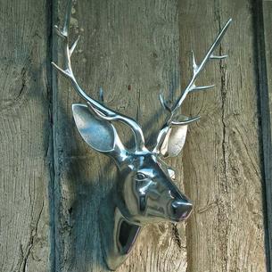 Aluminium Stag's Head
