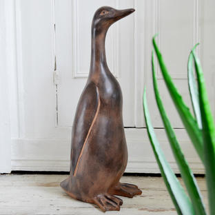 Brown Duck Sculpture