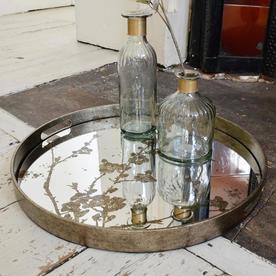 Mercury Mirrored Blossom Trays