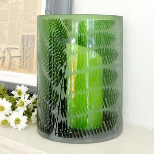Fern Leaf Hurricane Lantern