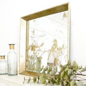 Aged Mirrored Square Tray