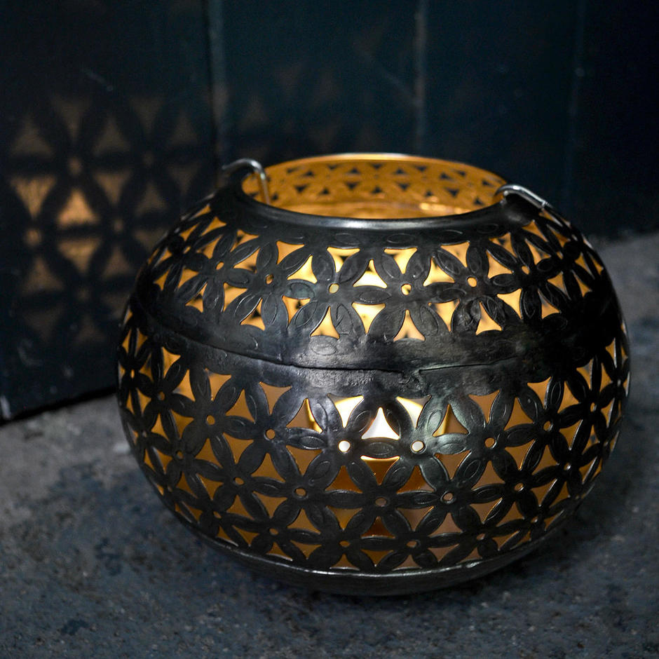Moroccan Design Metal Tealight Holder