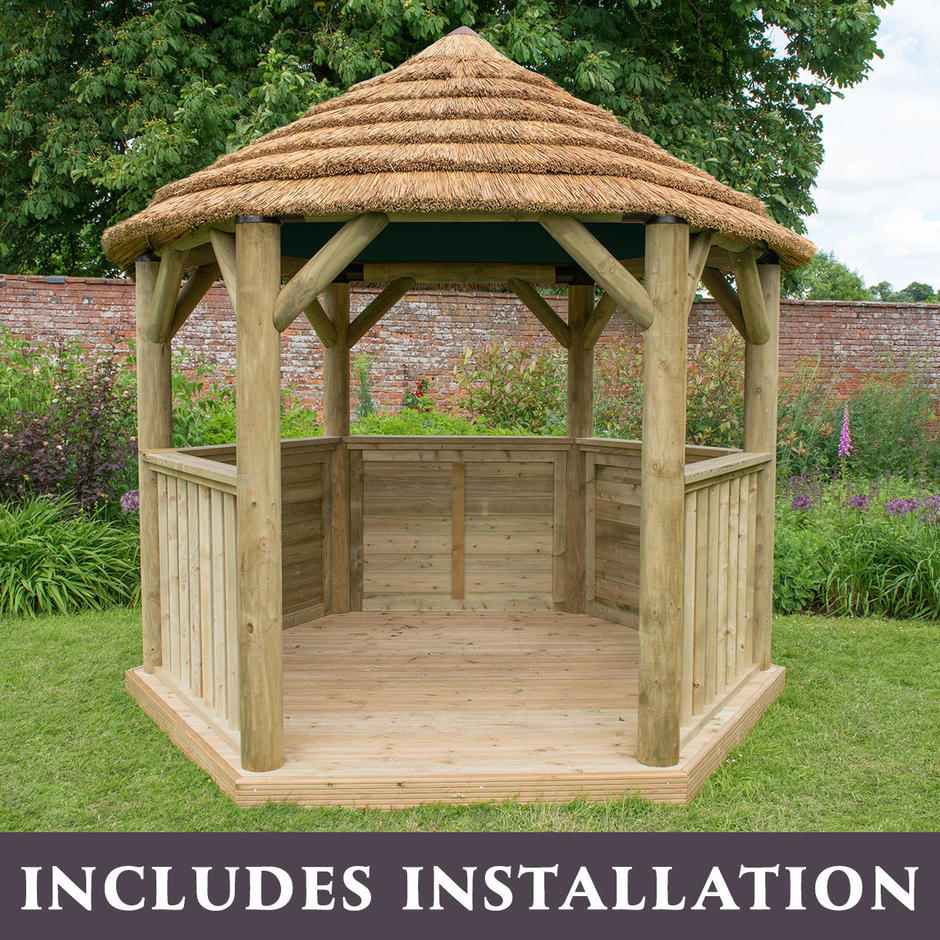 Thatched Hexagonal 3m Gazebos