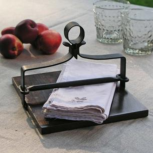 Wood and Metal Napkin Holder