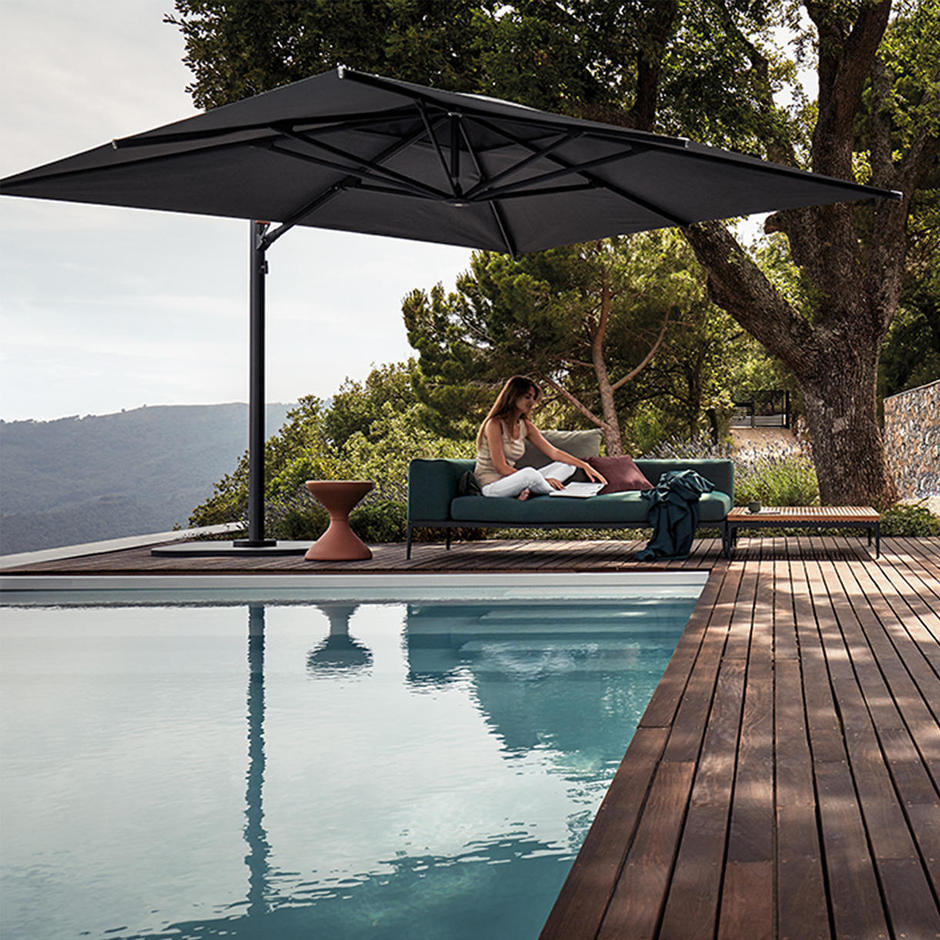 Halo Cantilever Parasols with Weighted Bases